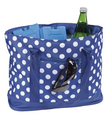 Chladicí nákupní taška puntík 22 l, modrá