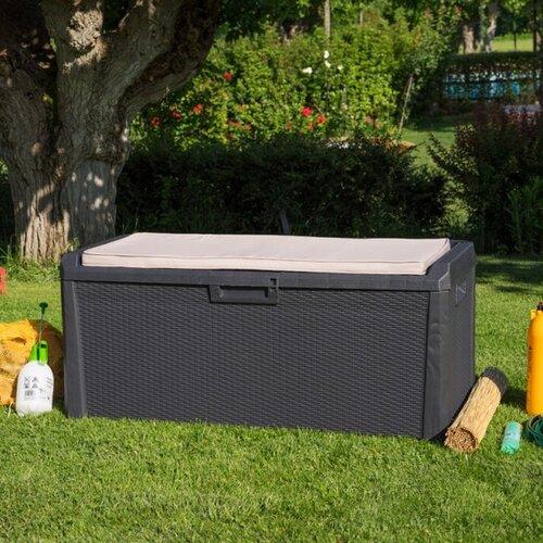 Zahradní úložný box Santorini Plus šedá, 560 l