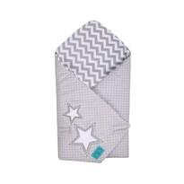 Belisima Dětská vyšívaná zavinovačka Hvězdička šedá, 75 x 75 cm