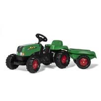 RollyToys Šliapací traktor Rolly Kid s vlečkou, zeleno-červená