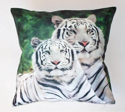 Povlak na polštářek tygři, 40 x 40 cm