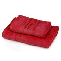 4Home Zestaw Bamboo Premium ręczników czerwony, 70 x 140 cm, 50 x 100 cm