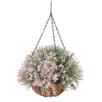 Umelá kvetina v závesnom kvetináči Mirabel, svetloružová,