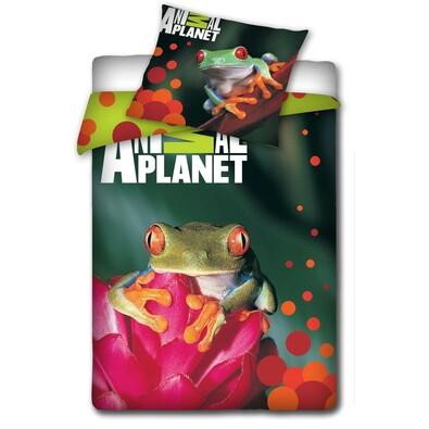 Bavlněné povlečení Animal Planet - Žába, 140 x 200 cm, 70 x 80 cm
