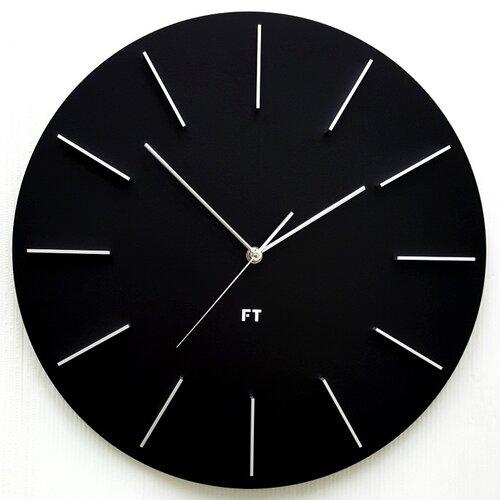 Ceas de perete design Future Time FT2010BK Round  black diametru 40 cm