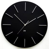 Future Time FT2010BK Round black Designerski zegar ścienny, 40 cm