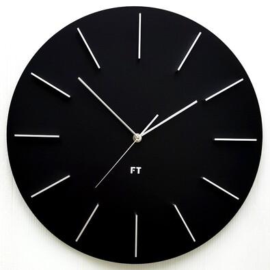 Future Time FT2010BK Round black Designové nástěnné hodiny, pr. 40 cm