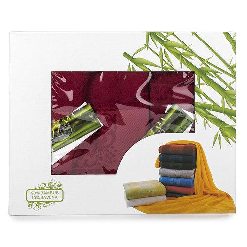 Ankara bambusz ajándék szett bordó