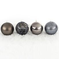 Bombki choinkowe różne śr. 10 cm, srebrny