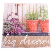 Big Dream vászonkép levendulával, 28 x 28 cm