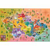 Trefl Puzzle Mapa Českej republiky, 44 dielikov