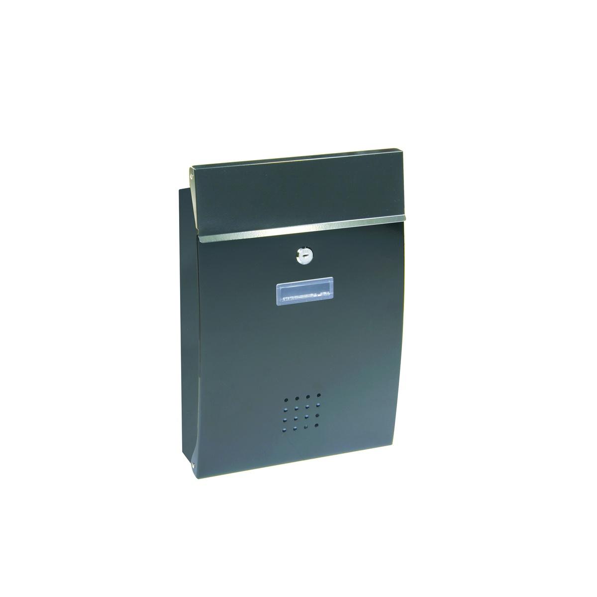 Poštovní schránka RICHTER BK05 (BÍLÁ, STŘÍBRNÁ, HNĚDÁ) - Ocel antracit