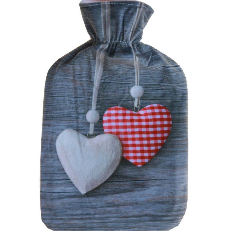 Modom Termofor s fleecovým obalem Winter 2 l Srdce
