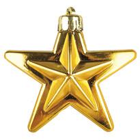 Gwiazda, złota 6 szt