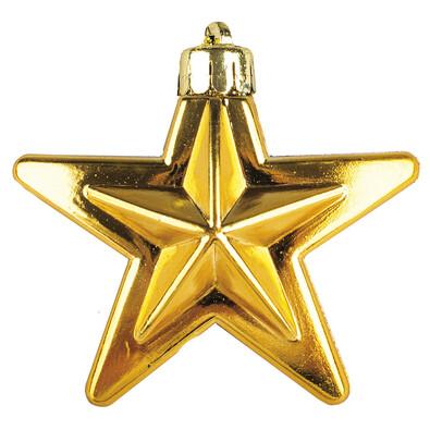 Hvězda zlatá 6 ks