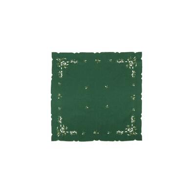 Vánoční ubrus jmelí zelená, 35 x 35 cm