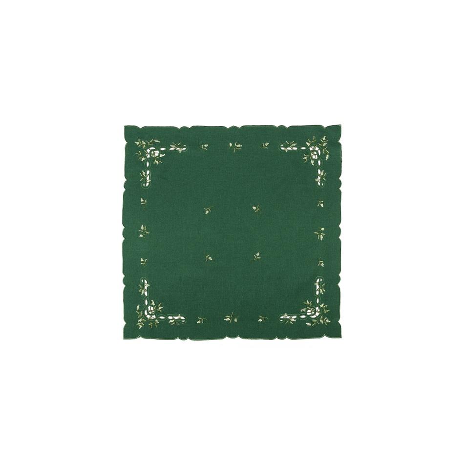 Forbyt Vianočný obrus imelo zelená, 35 x 35 cm