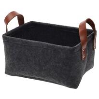 Dekorační košík Feltie tmavě šedá, 28 x 20 x 16 cm