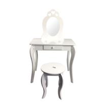 Dziecięca toaletka z lustrem Elza, 68 x 40 x 106,5 cm