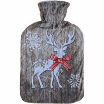 Termofľaša s fleecovým obalom Winter reindeer, 2 l