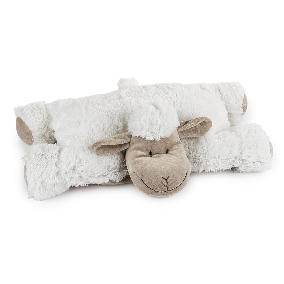 BO-MA Trading Polštářek Ovečka suchý zip bílá, 52 x 38 cm