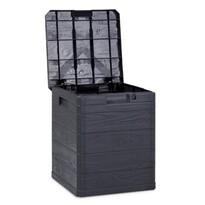Aldo Úložný box na podušky Woody tmavosivá, 90 l