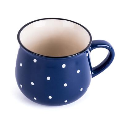 Keramický hrnek Dots 230 ml, modrá