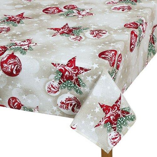 Bellatex Ubrus VÁNOCE Vánoční baňky, 100 x 100 cm