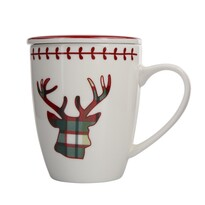 Altom Kubek porcelanowy z pokrywką Victoria Red Deer, 300 ml