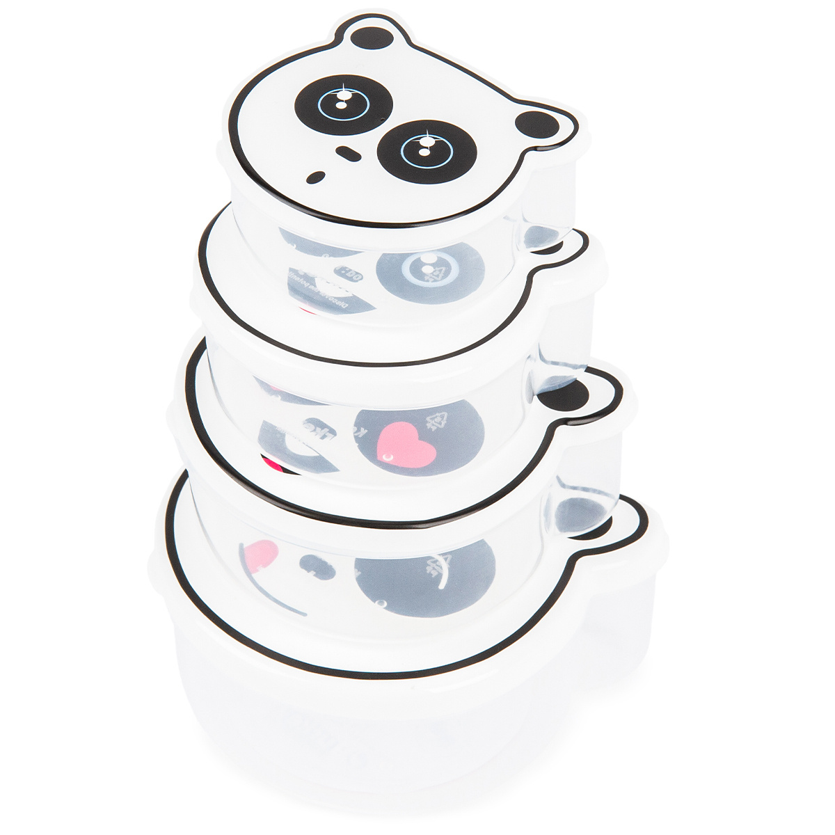4dílná sada svačinových dóz, Panda