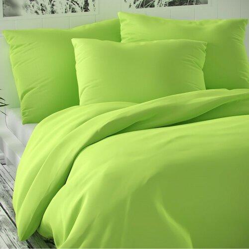 Saténové povlečení Luxury Collection světle zelená, 220 x 200 cm, 2 ks 50 x 70 cm