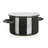 Belis Smaltovaný hrnec Standard 20 cm, černá