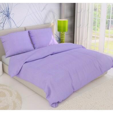 Krepové povlečení fialová, 140 x 220 cm, 70 x 90 cm