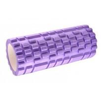Fitness walec do masażu fioletowy, 34 x 14 cm