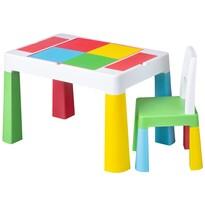 Tega Detská sada stolčeka a stoličky Multifun 2 ks, farebná