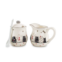 Keramická mliekovka a cukornička Mačky