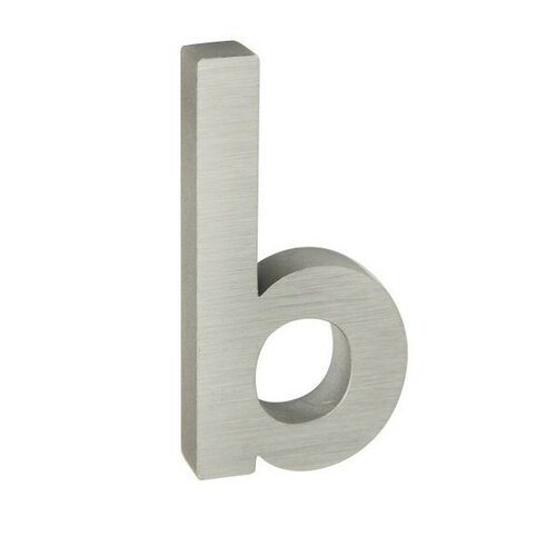 Hliníkové domové písmeno b, 3D brúsený povrch