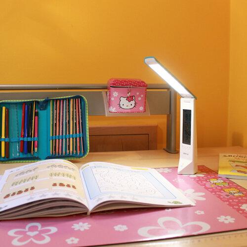 Panlux Multifunkčná stolná lampička Daisy, ružová