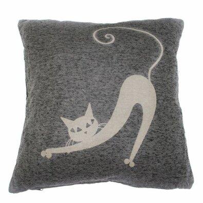 Obliečka na vankúšik Mačka sivá, 40 x 40 cm