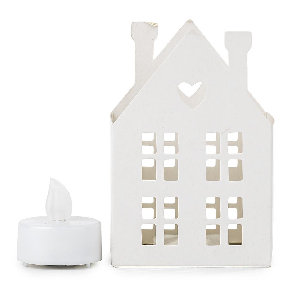 Svietnik Domček s LED sviečkou