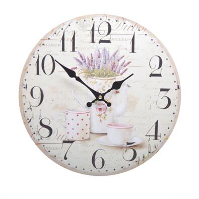 Nástěnné hodiny Levandule HLC14025GA