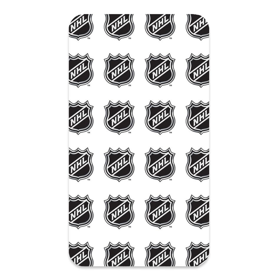 BedTex Bavlněné prostěradlo NHL Logo White, 90 x 200 cm