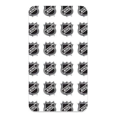 Bavlnené prestieradlo NHL Logo White, 90 x 200 cm