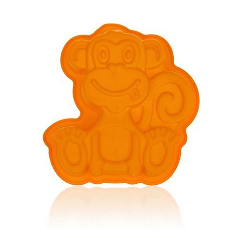 BANQUET Silikonová forma opička 19,5x19,5x4,7cm Culinarie orange 3122030O