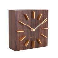 Karlsson KA5781DW Dizajnové stolné i nástenné hodiny, 15 cm