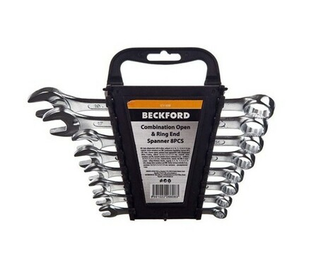 Sada očkoplochých klíčů, Beckford, stříbrná