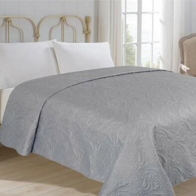Přehoz na postel Alfa šedá, 220 x 240 cm