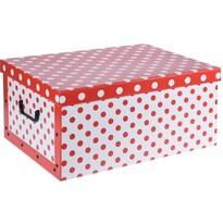Pöttyös tároló doboz, piros