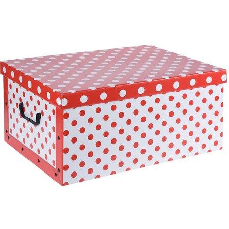 Úložný box Bodka, červená
