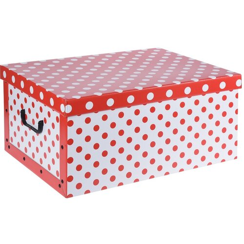 Úložný box Puntík, červená